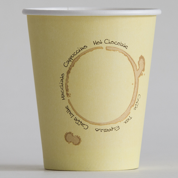 PE coated coffee cup disposable hot/cold paper cup 9oz 250ml