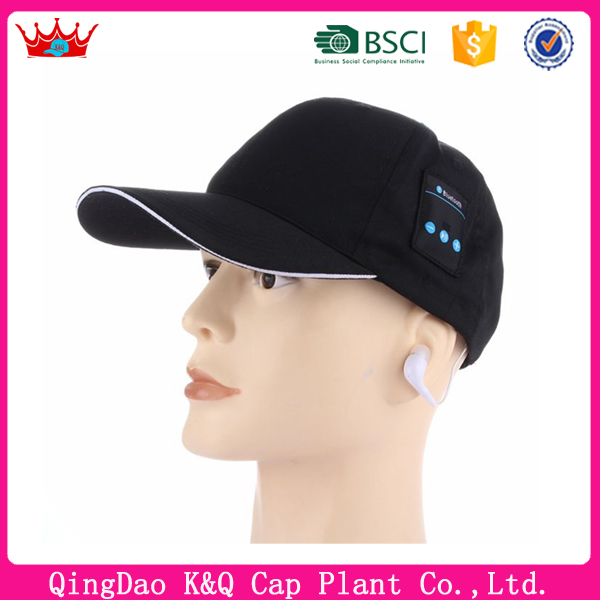 2017 new style bluetooth caps baseball caps with earphone