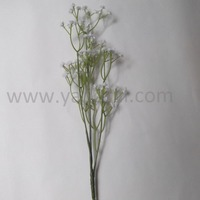 Single stem plastic flowers natural looking baby's breath plastic artificial flowers