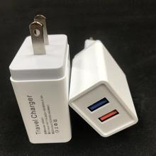 Super Fast charging mobile phone charger 5V 2.1A EU 2 USB Port Micro USB Charger Wall Plug Power Adapter