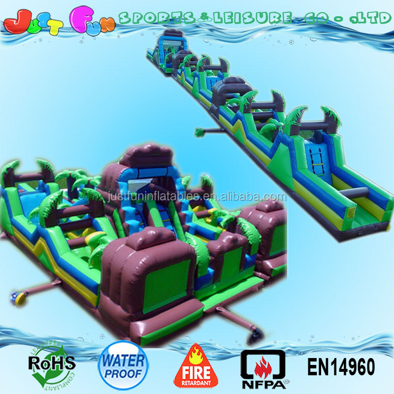 outdoor giant inflatable obstacle course equipment for adults