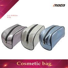 OEM manufacture good quality small travel chevron makeup bag
