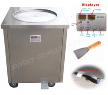 Hot Sale Thailand fry ice cream roll machine flat big single round ice cream cold plate with low price