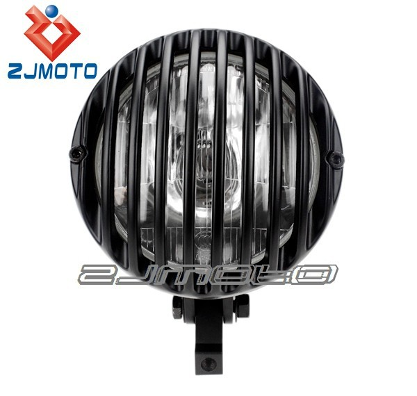 Motorcycle Universal Protactive Custom Vintage Antique Grille Lamp Headlight