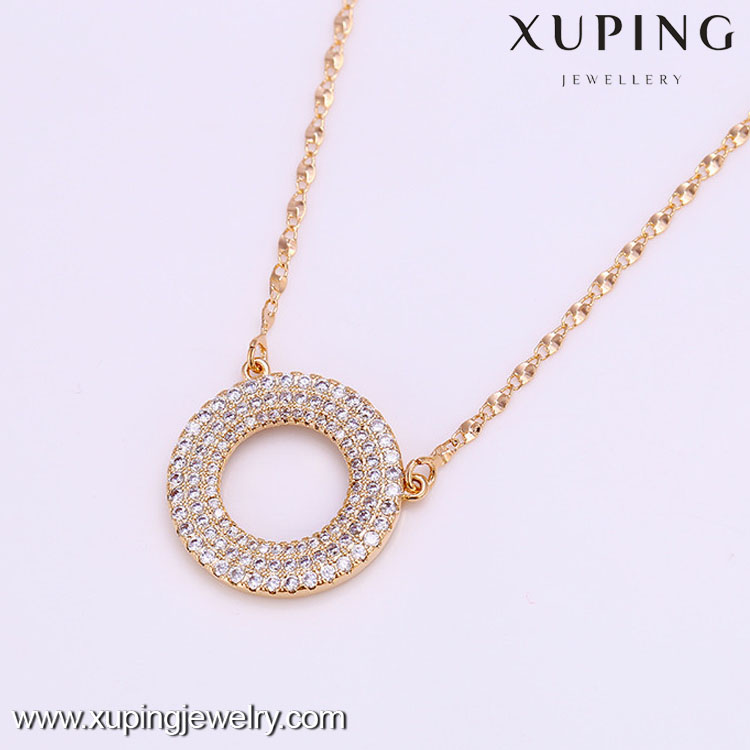 C205094/41755New arrival 18k gold color rhinestone necklace