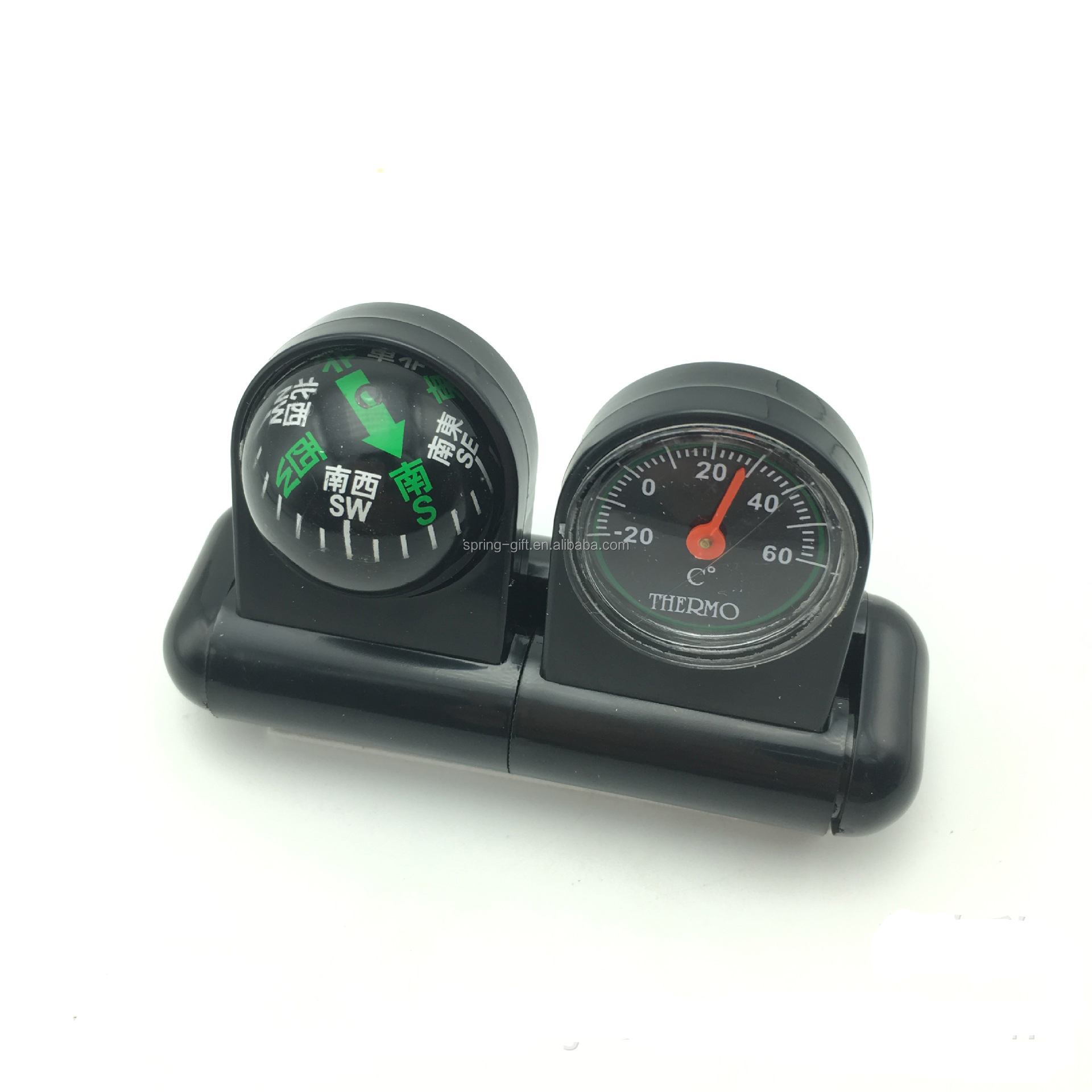 2 in 1 anhaftender Fahrzeug-Auto-Boots-LKW-Navigations-Ball-Kompass mit Thermometer