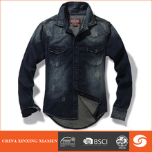 Hot Sale Heavy Washed Cotton Jean Men Shirts