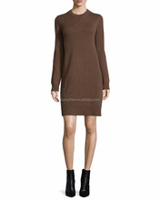 Inner Mongolia New Design Women's 100% Deep V Neck Cashmere Dress