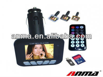 Remote Control Car MP4 Player with FM Radio Transmitter for Car, Support SD/MMC/USB