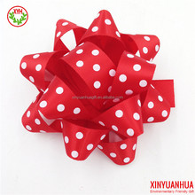 Factory Outlet Custom printed full colors pom pom bow/ gift ribbon/pull bow