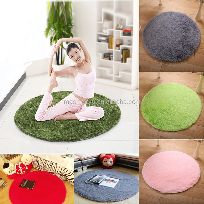 Wholesale cheapest Floor mat Length Fluffy Eco-Friendly Yoga mat 100x100cm