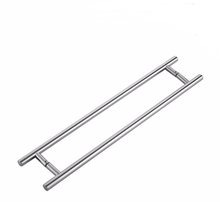 stainless steel glass H type double side glass door pull handle