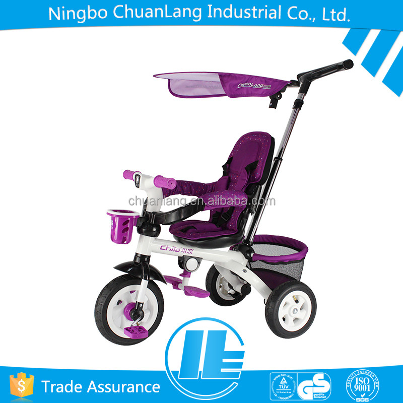 Comfortable siamesed fabrics pad tricycle for children