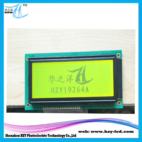 4 Inch 19264 192X64 LCD LCD Module 5V Yellow Green Screen Display Graphic LCM