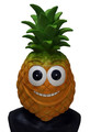 Fruit juice Costume Lovely masquerade Fancy dress Latex Pineapple Cartoon Mask for advertising