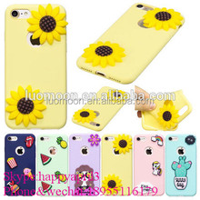 Top selling products 2017 Custom phone cases For Iphone 7/6 Plus 5 5s Candy Color Soft Silicone Case With 3D Funny Cartoon