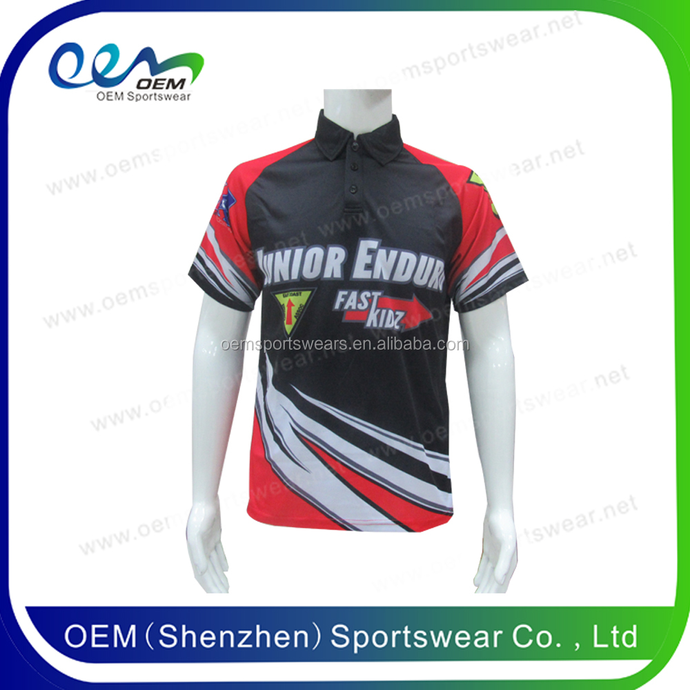 100% polyester custom racing pit crew shirt wholesale