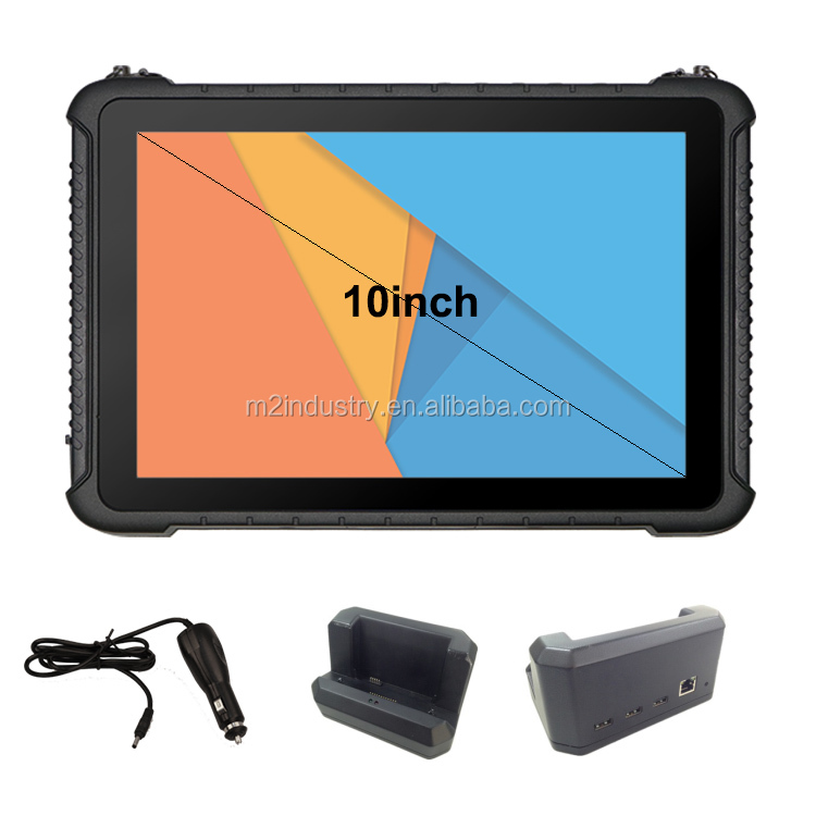 New 10.1 Tablet PC Portable computer Windows Rugged Tablet IP65 with Docking Station