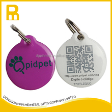 Polycoated aluminum QR code dog pet tag