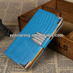 Designed diamond lizard leather case for Samsung Galaxy note II N7100