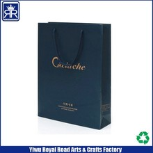 Cheap Custom Printed Luxury retail paper shopping bag with gold stamp logo