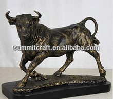 Creative gift Metal plating resin Simulation of buffalo figurine home decor for sale