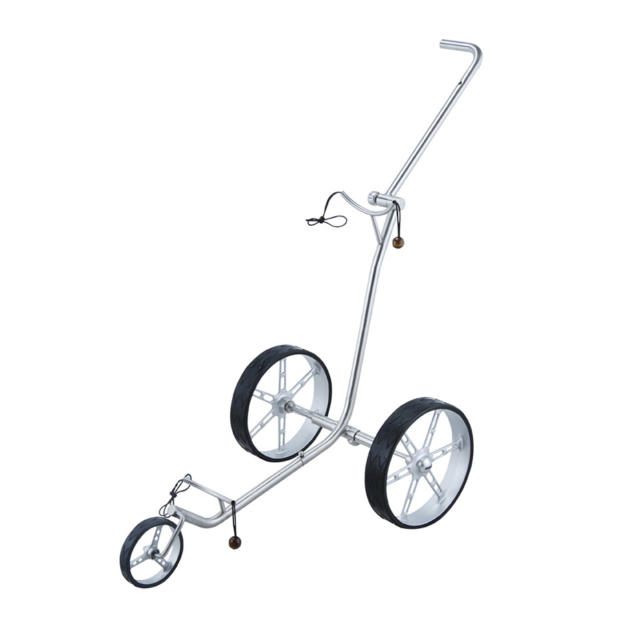 SELOWO Stainless Steel Push Golf Trolley 3 wheel Very convenient fold to carry