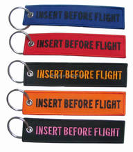 INSERT FLIGHT embroidered keychain