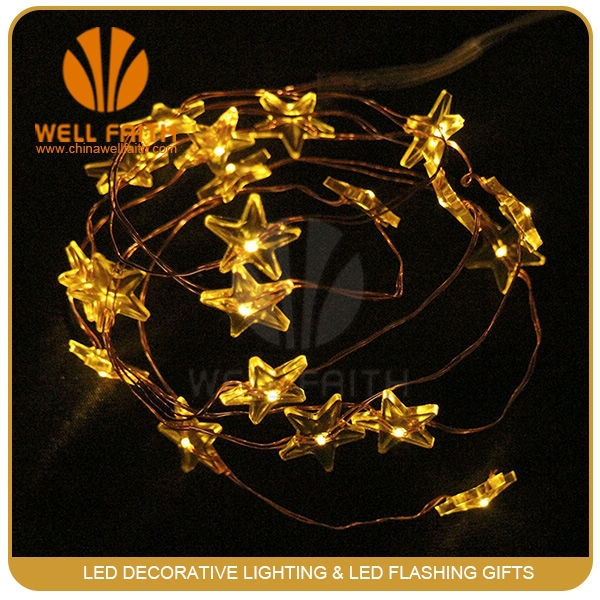 Magic cheap led decorative star shape string lights for Christmas fairy lighting