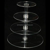 elegant acrylic crystal cake stands for wedding cakes