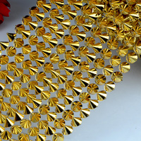 Plastic 10 rows trimming spike studs banding mesh