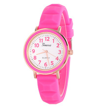 promotional new arrive 13 colors quartz watches for lady cheap silicone band women geneva watch
