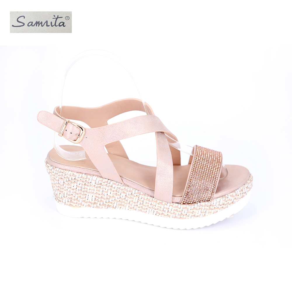 Soft new designed pu outsole fashion stiletto china shoes low price ladies girls latest design studded flat sandals fo