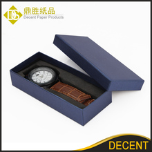 Wholesale Cheap Blue Paper Cardboard Single Wrist Watch Packaging Boxes Low MOQ