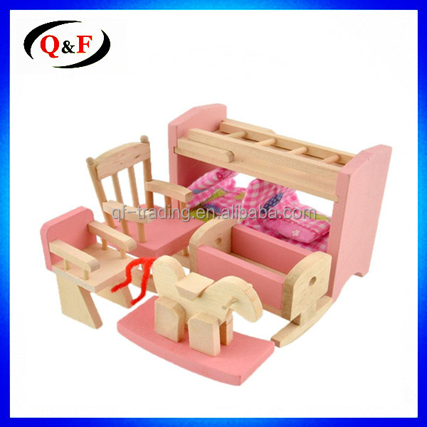 2017 Modern Design Wooden Miniature Living Room Furniture Toy for Doll