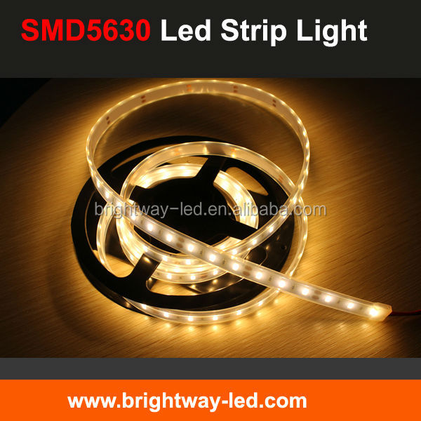 UL listed SMD5630 LED Strip Light high brigtness with CRI 80, 12V/24V 10mm PCB samsung led strip with UL certification