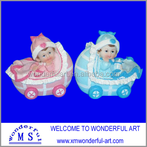polyresin baby figurines with cute design