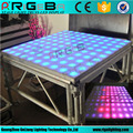 Adjustable height 1.22x1.22m LED Light Up dance floor with aluminum support stage used for sale