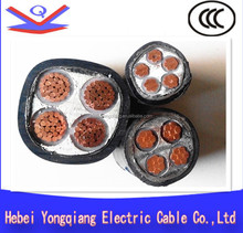 0.6/1kv low voltage yjv XLPE insulated pvc sheathed 5 core copper conductor fiber cable