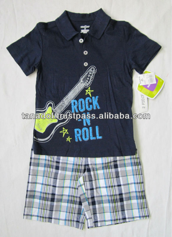 Children Clothes for Boy 2pcs/set POLO Shirts