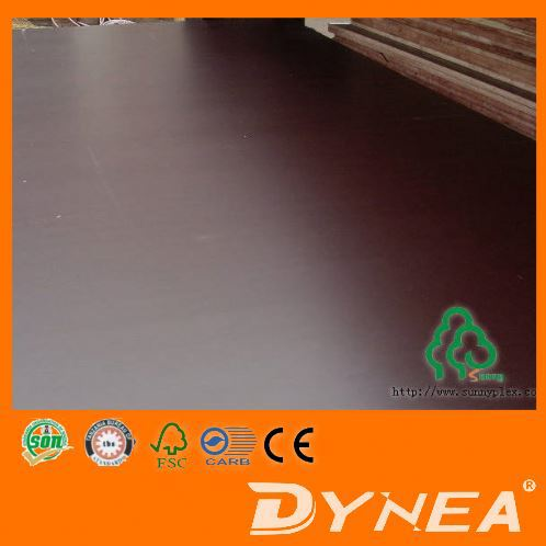 Low Price One Time Hot Pressed Film Faced Plywood/Shuttering Plywood 18mm Thickness