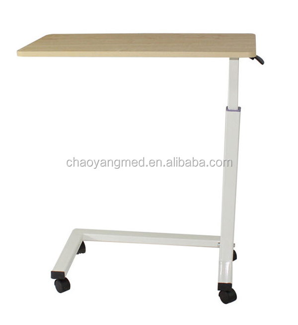 CY H836 Mobile Dining Table Hospital Over Bed Tray Table Hospital Folding  Table