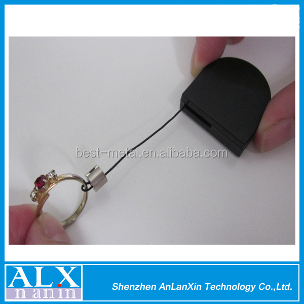 Factory oem cheap retractable anti-theft ring display recoiler