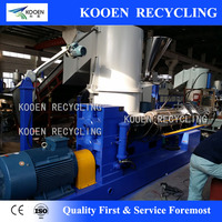two stages pp pe film pelletizing line/waste plastic recycling granulator line