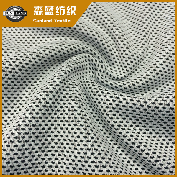 100% polyester yarn dyed cooling fabric in mesh style
