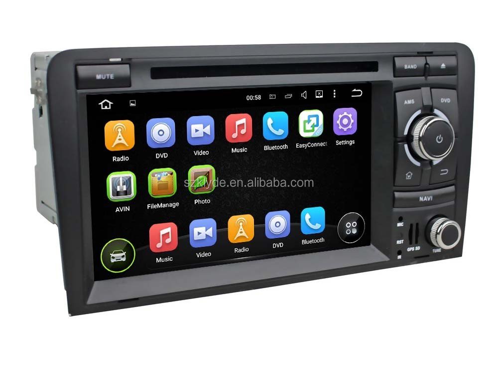 support orginal car rear camera and amplifier and USB android 5.1.1 car stereo system for A3