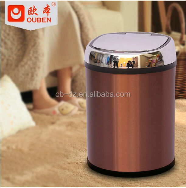 Colored hot bin smart ashtray mini trash can 8L for sale