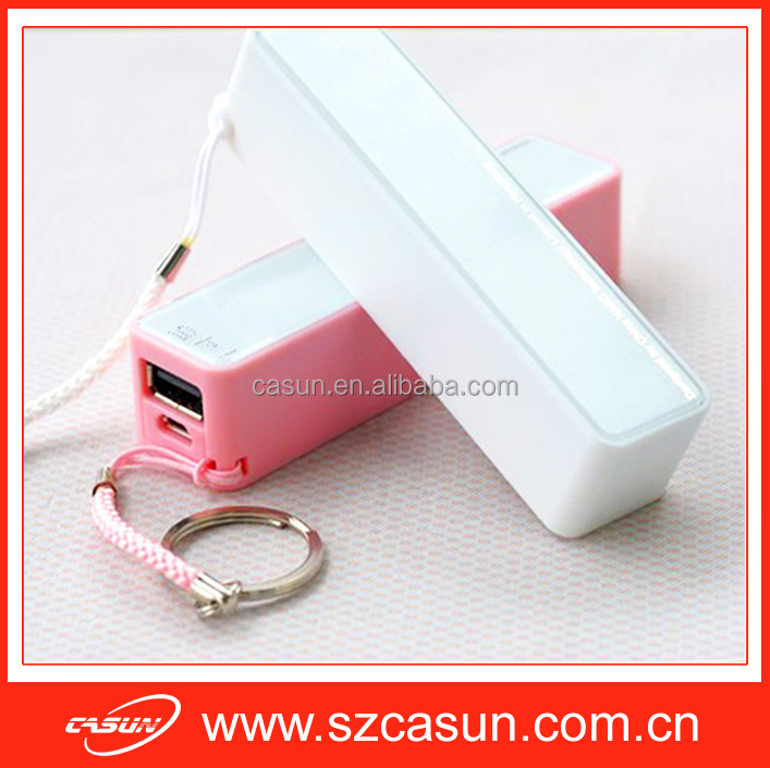 Mini Portable cell phone charger 2600mah Power Bank with Customized Logo