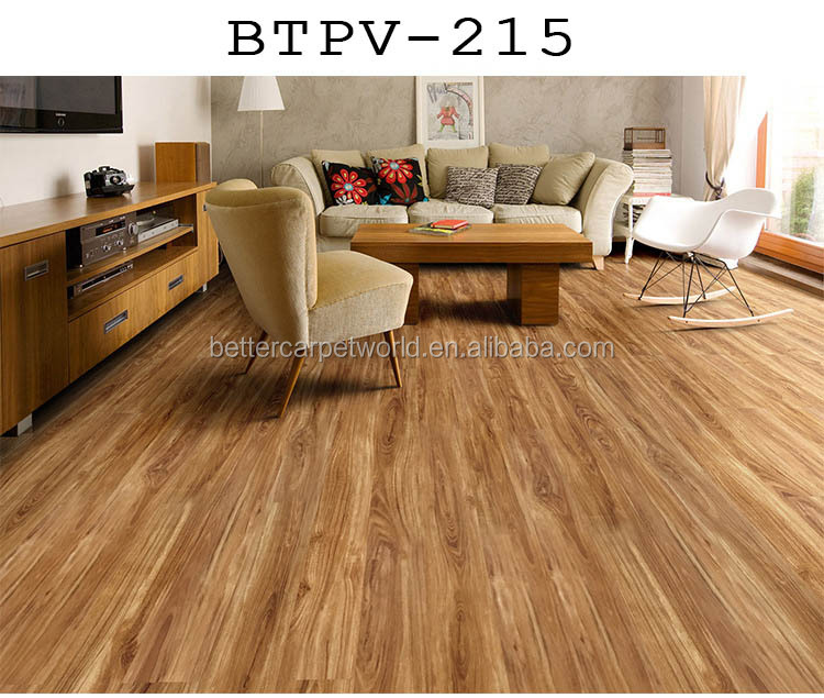 Self Adhesive 2MM-8MM Thickness PVC Floor Glue Down LVT Dry Back Vinyl Plank Flooring