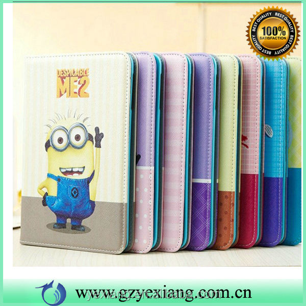 Fancy Design Minion Despicable Me 2 Case For iPad Mini Leather Case